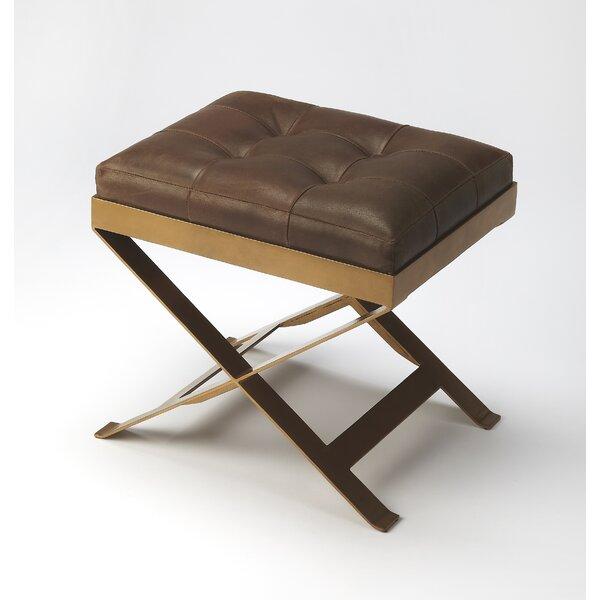 Hudgins Leather Vanity Stool by Mercer41