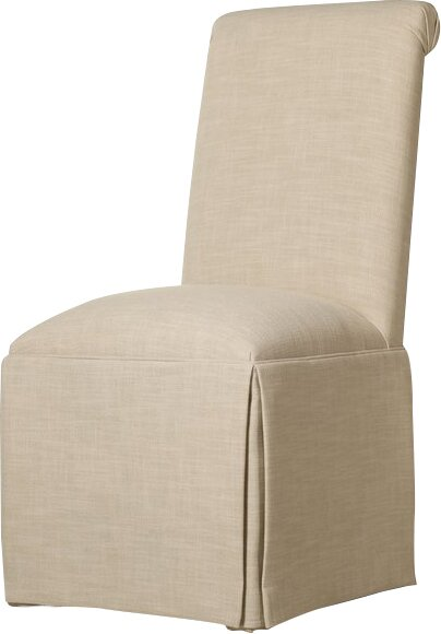 Weare Solid Back Skirted Upholstered Dining Chair by Alcott Hill