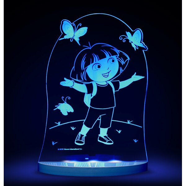 Nickelodeon Dora the Explorer and Butterfly LED 3-Light Night Light by CompassCo