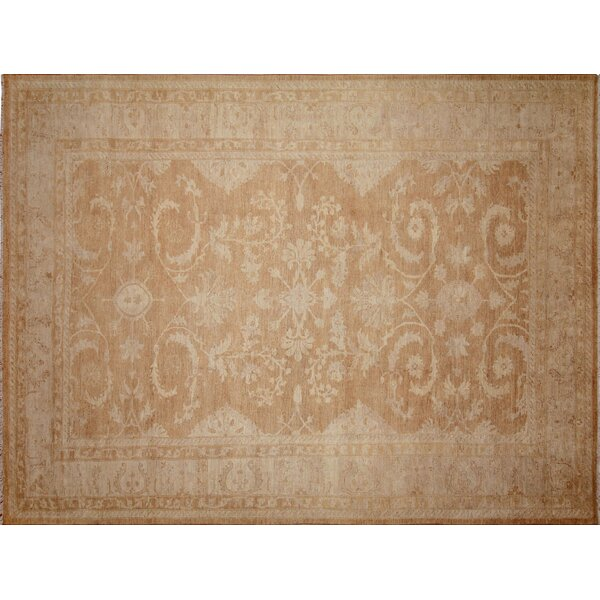 One-of-a-Kind Romona Hand-Knotted Rectangle Light Brown Indoor Area Rug by Isabelline