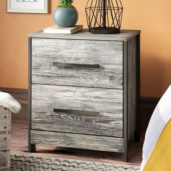 Fuller 2 Drawer Nightstand by Loon Peak