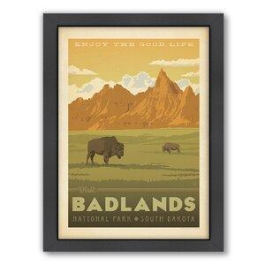 National Park Badlands Framed Vintage Advertisement by East Urban Home