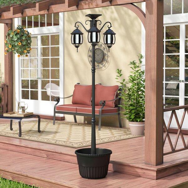 Helen Solar 3-Light LED 78.74 Post Light by Fleur De Lis Living