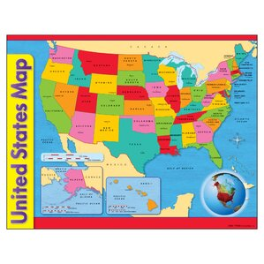 Childrens Wall Maps Youll Love Wayfair - Usa maos