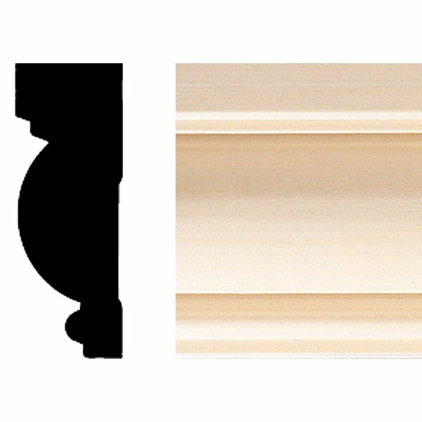1 in. x 2-3/4 in. x 8 ft. Hardwood Casing/Chair Rail Moulding by Manor House