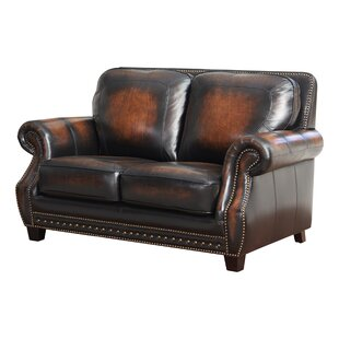 Cletus Leather Loveseat