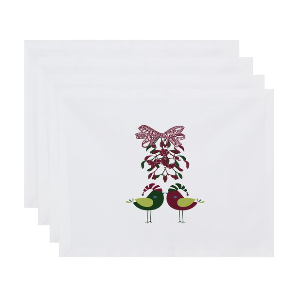 Love Birds Placemat (Set of 4) by The Holiday Aisle
