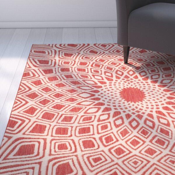 Mullen Red/Beige Indoor/Outdoor Area Rug by Ebern Designs