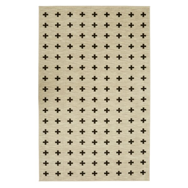 Maloree Cream/Black Area Rug by Gracie Oaks
