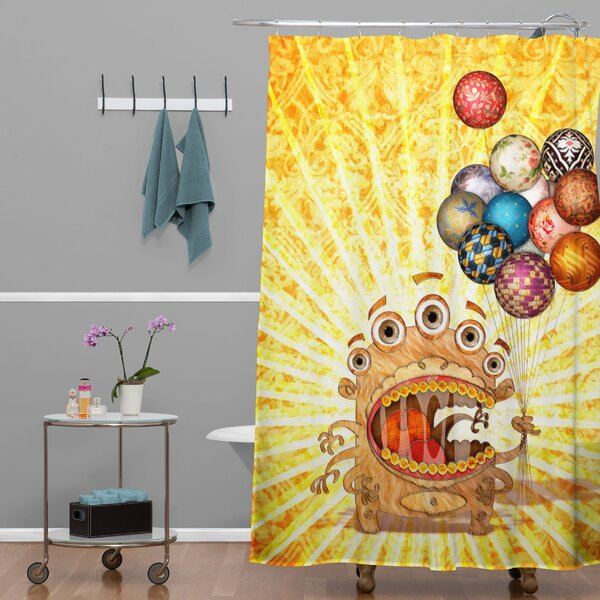 Jose Luis Guerrero Monster Shower Curtain by Deny Designs