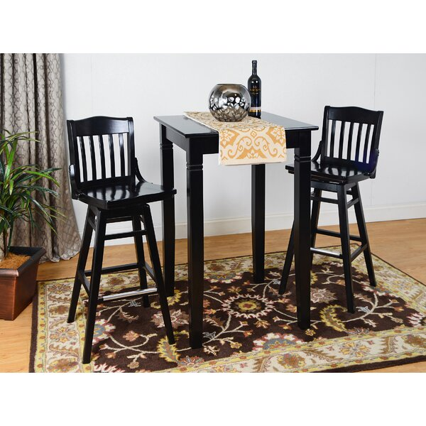 Earleton Swivel 3 Piece Pub Table Set by Darby Home Co Darby Home Co