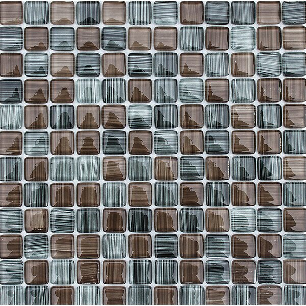 Cayucos 1 x 1 Glass Mosaic Tile by Parvatile