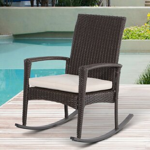 Rattan Rocking Chair With Cushion