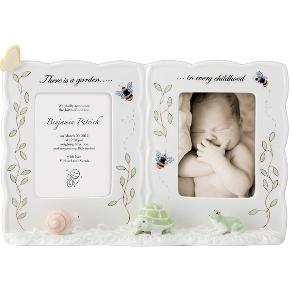 Butterfly Meadow Baby Double Picture Frame by Lenox
