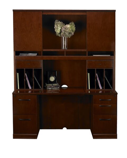 Sorrento Series Executive Desk with Hutch by Mayline Group