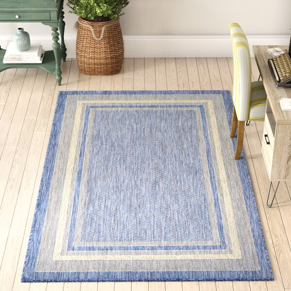 Delmont Blue Indoor/Outdoor Area Rug by Sol 72 Outdoor
