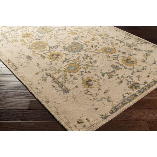 Ivan Hand-Tufted Taupe Area Rug by Charlton Home