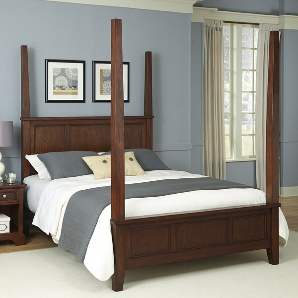 Borden Four Poster Bed by Three Posts