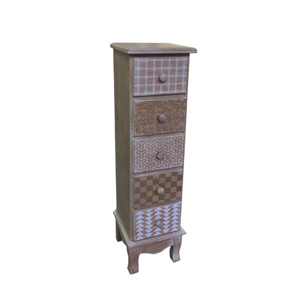 Atterberry Wooden 5 Drawer Accent Chest by Bungalow Rose Bungalow Rose