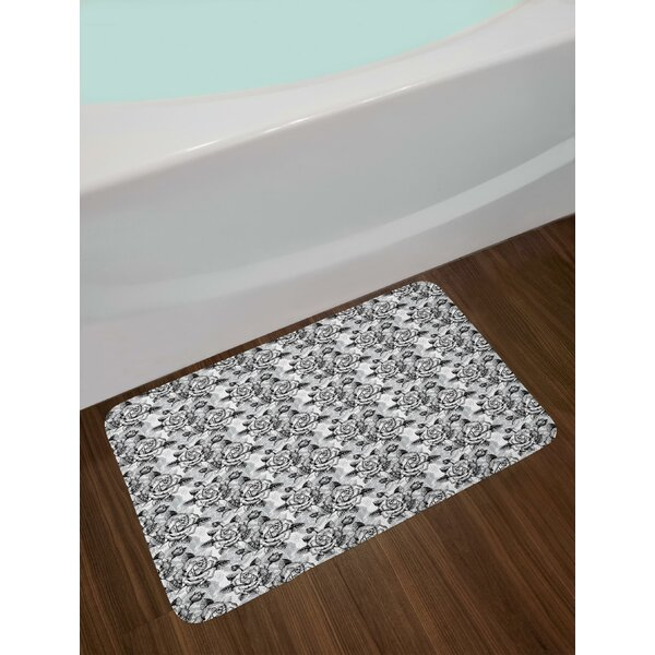 Blossoming Romantic Roses Soulful Expression Bouquet of Love Bath Rug by East Urban Home