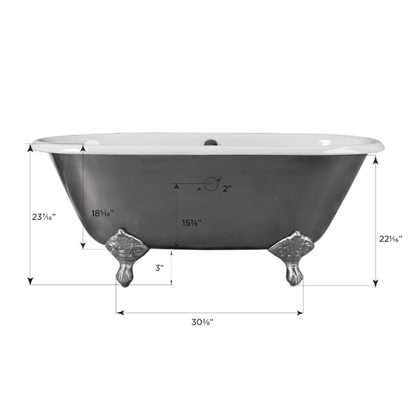 Rosa Clawfoot Soaking Bathtub by Maykke