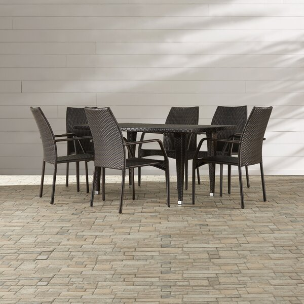 Panos 7 Piece Outdoor Dining Set by Mercury Row