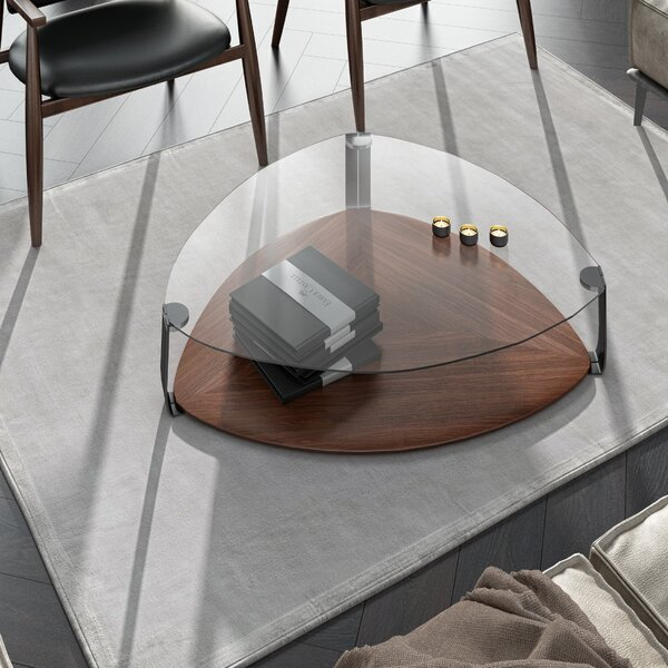 Free S&H Georgiev Floor Shelf Coffee Table With Storage