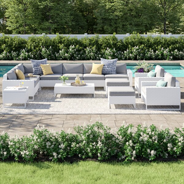 Menifee 13 Piece Sectional Seating Group with Cushions by Sol 72 Outdoor Sol 72 Outdoor