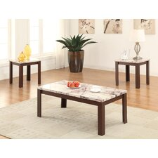 Carly 3 Piece Coffee Table Set by A&J Homes Studio