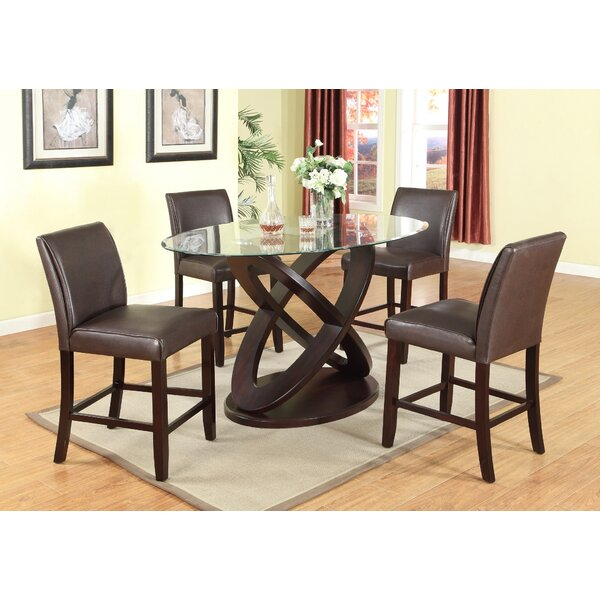 Cicicol 5 Piece Counter Height Dining Set by Roundhill Furniture