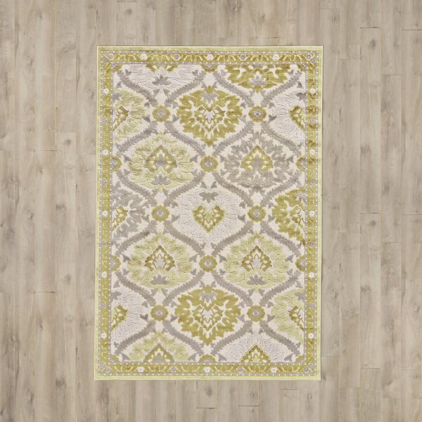 Rousseau Gray/Citrine Area Rug by Lark Manor