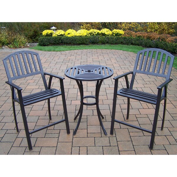 Lisabeth 3 Piece Bar Height Dining Set by Red Barrel Studio
