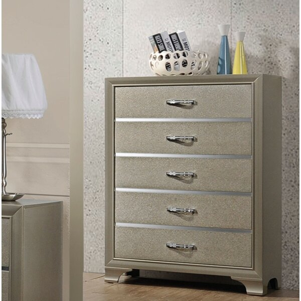 Ireland 5 Drawer Standard Dresser/Chest by House of Hampton