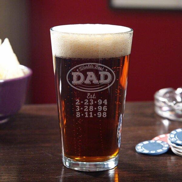 World's Best Dad Custom 16 oz. Glass Pint Glass by Home Wet Bar