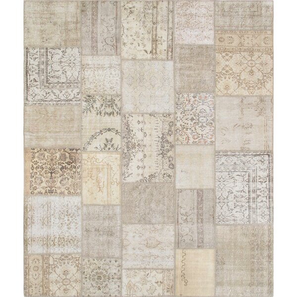 Hand-Woven Beige Area Rug by Pasargad