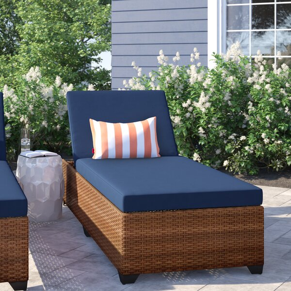 Waterbury Reclining Chaise Lounge With Cushion By Sol 72 Outdoor