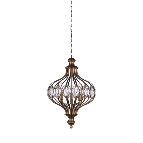 6-Light Unique / Statement Globe Chandelier By CWI Lighting