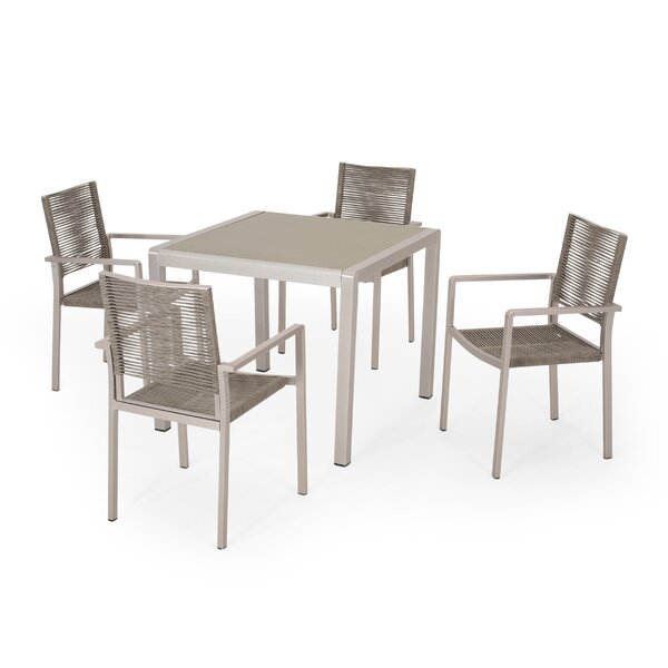 Aarthurnna Outdoor 5 Piece Dining Set By Bayou Breeze