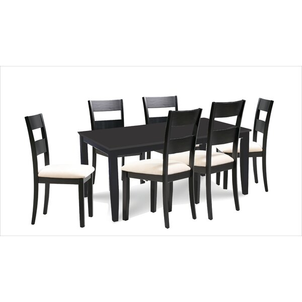 Bennet 7 Piece Extendable Solid Wood Dining Set by Alcott Hill