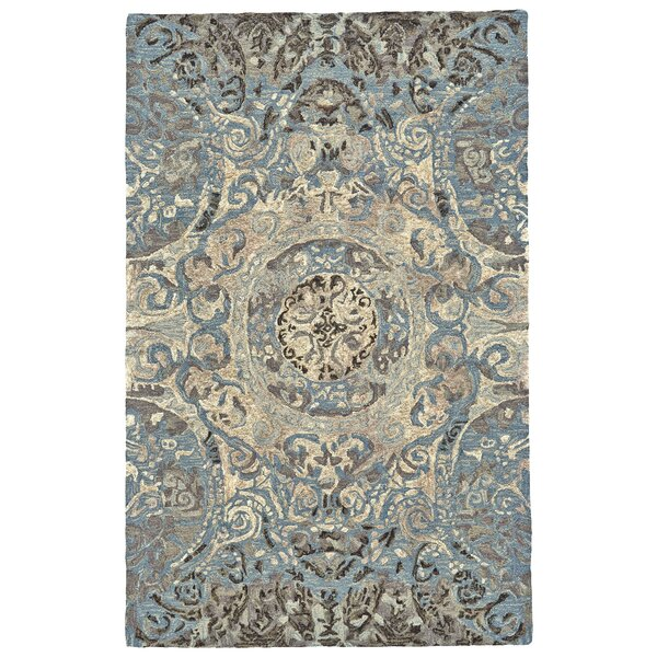 Mooney Hand-Tufted Beige/Blue Area Rug by Alcott Hill