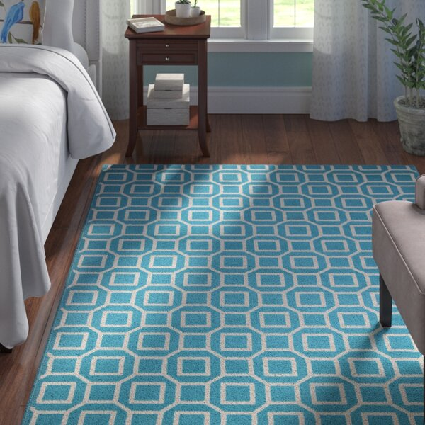 Hajek Blue/Aqua Indoor/Outdoor Area Rug by George Oliver