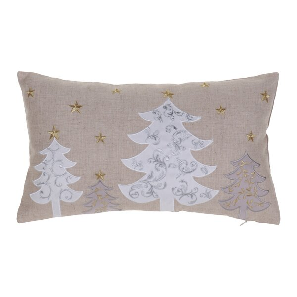 White Christmas Trees Lumbar Pillow by The Holiday Aisle