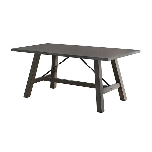 Melodi Wooden Dining Table by Gracie Oaks