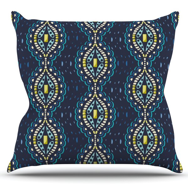 Ogee Lace by Suzie Tremel Outdoor Throw Pillow by East Urban Home