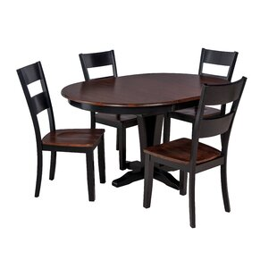 Valleyview 5 Piece Solid Wood Dining Set ByTTP Furnish