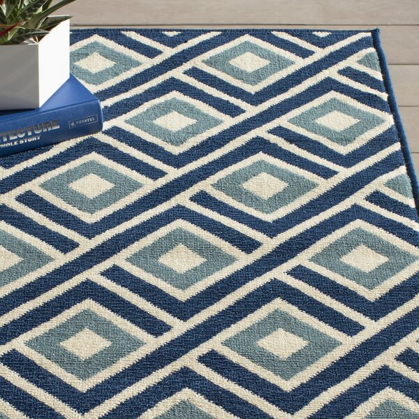 Rahul Blue Indoor/Outdoor Area Rug by Willa Arlo Interiors