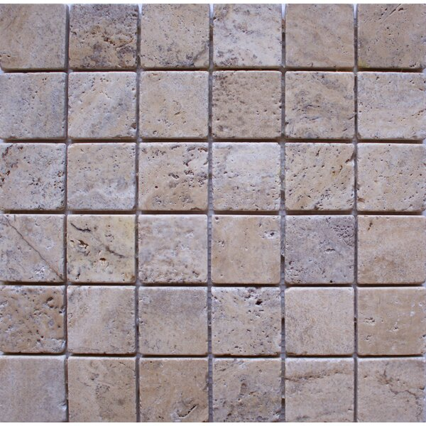 Tumbled 2 x 2 Travertine Mosaic Tile in Philadelphia by Ephesus Stones