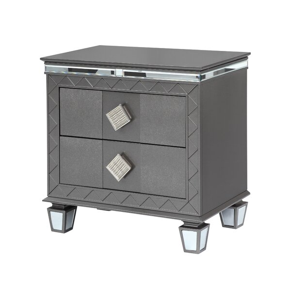 Halcomb 2 Drawer Nightstand by Everly Quinn