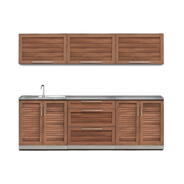 Kitchen 7 Piece Outdoor Bar Center by NewAge Products