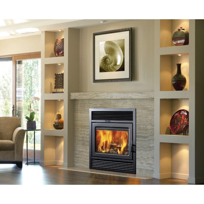 wood burning fireplace. Galaxy Zero Clearance Semi Classic Wood Burning Fireplace Insert Supreme Fireplaces Inc
